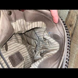 Frye Bags - FRYE MELISSA Ice Gray Whipstitch Hobo Shoulder bag